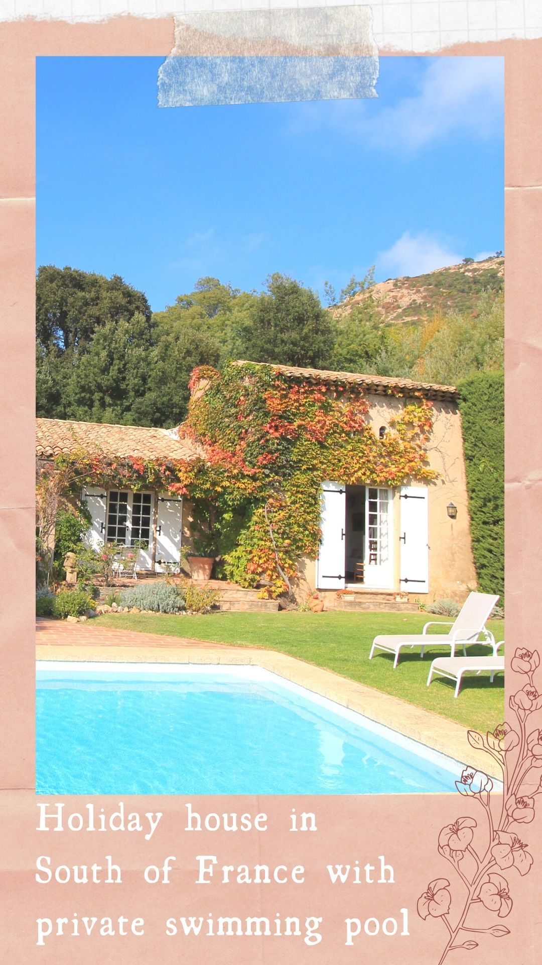 Stay in this villa with private swimming pool in the centre of nature 🌺 -   18 holiday Home france ideas