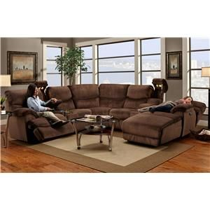 Franklin 597 Casual Reclining Sectional Sofa With Right