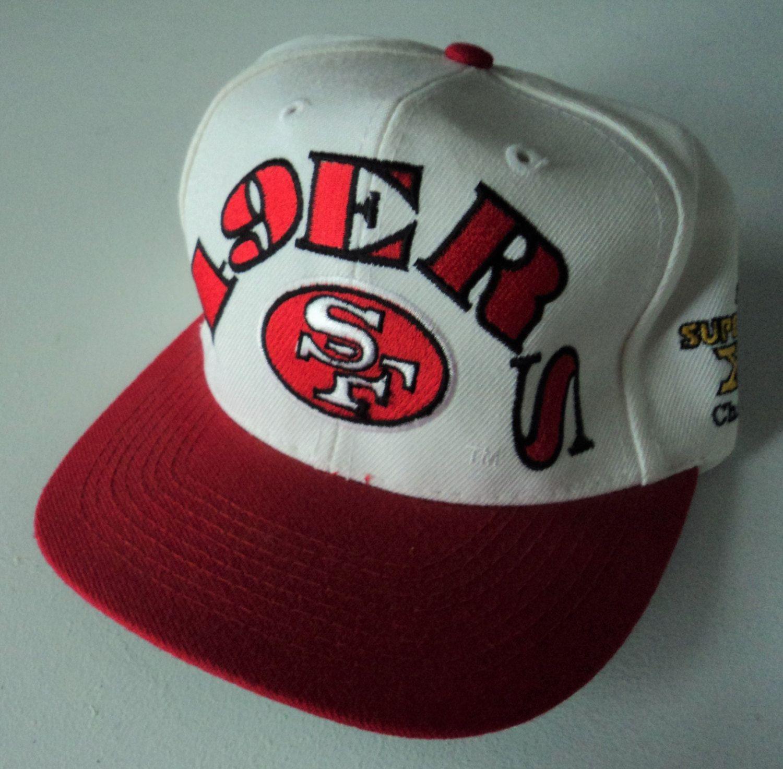 Vintage San Francisco 49ers Super Bowl Champions Snapback Hat NFL VTG by  StreetwearAndVintage on Etsy 1f4eb6db69db