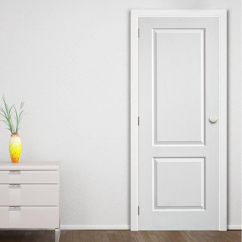 Caprice 2 Panel Door with White Primed Woodgrained Effect  sc 1 st  Pinterest & Caprice 2 Panel Door with White Primed Woodgrained Effect | Doors