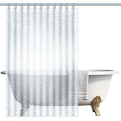 DOZZZ 3D Effect Bathroom Curtain Light Weight Water Cube Waterproof WaterRepellent Resistant Shower