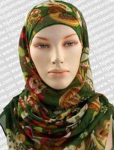Hijab - Seychelles Fun - Green Maxi