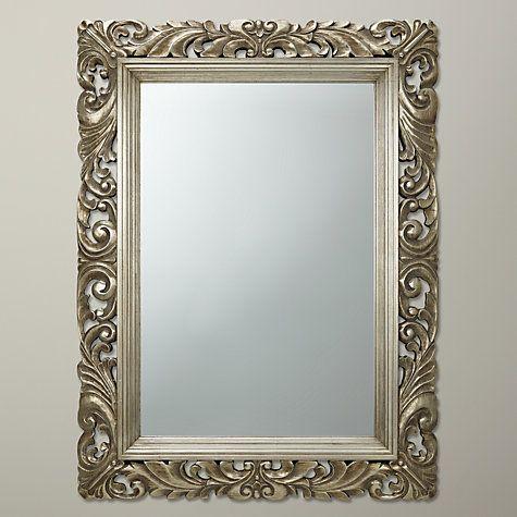 buy john lewis ornate leaf wall mirror 122 x 91cm champagne online at johnlewis