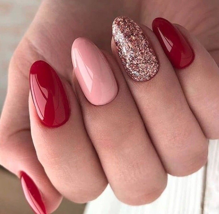 Valentine S Day Nails Red Gel Nails Heart Nails Heart Nail Designs