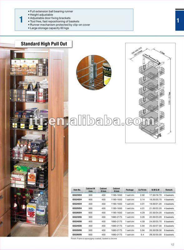 Cocina De Alta Tire Gabinete Despensa - Buy Product on Alibaba.com ...