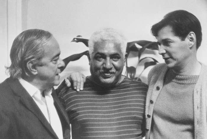 Vinicius de Moraes, Dorival Caymi e Tom Jobim.