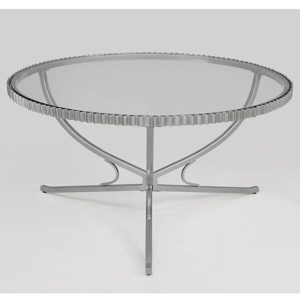 Scalloped metal coffee table overstock hausofellison scalloped metal coffee table overstock geotapseo Image collections