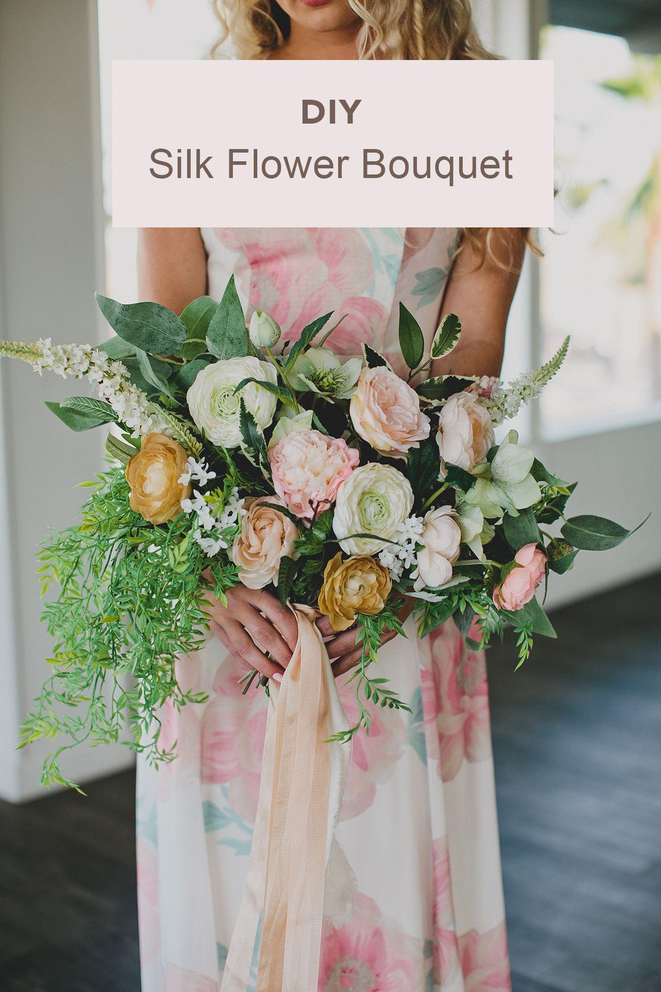 DIY Silk Flower Bouquet for an Elopement Wedding