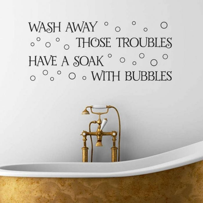 bubble bath bathroom wall decal