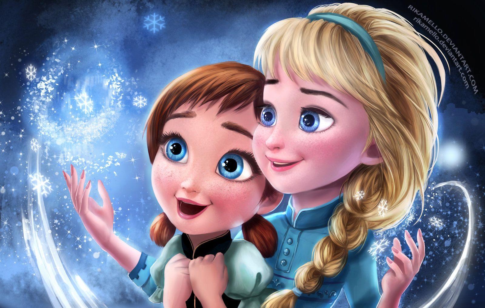 Frozen Elsa Anna Digital Fan Art Wallpapers Frozen Wallpaper Frozen Fan Art Elsa Frozen