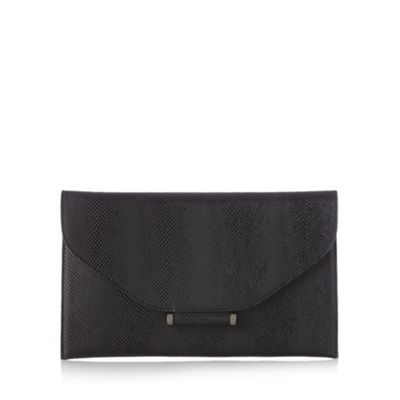 Star by Julien Macdonald Designer black bar tab clutch bag- at Debenhams.com