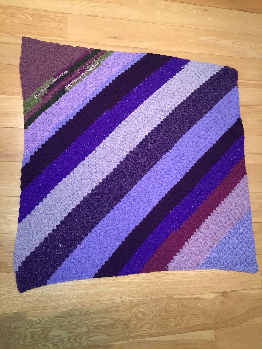 Corner to Corner (c2c) made from leftover purples