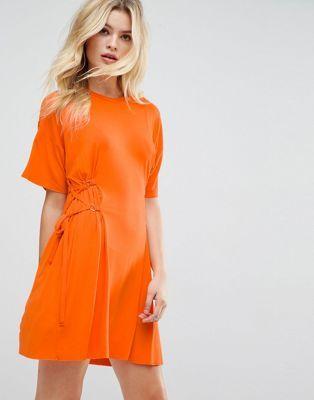 Orange Short Corset Dresses
