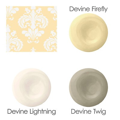 Devine Color Chantilly Peel & Stick Wallpaper Yellow/White