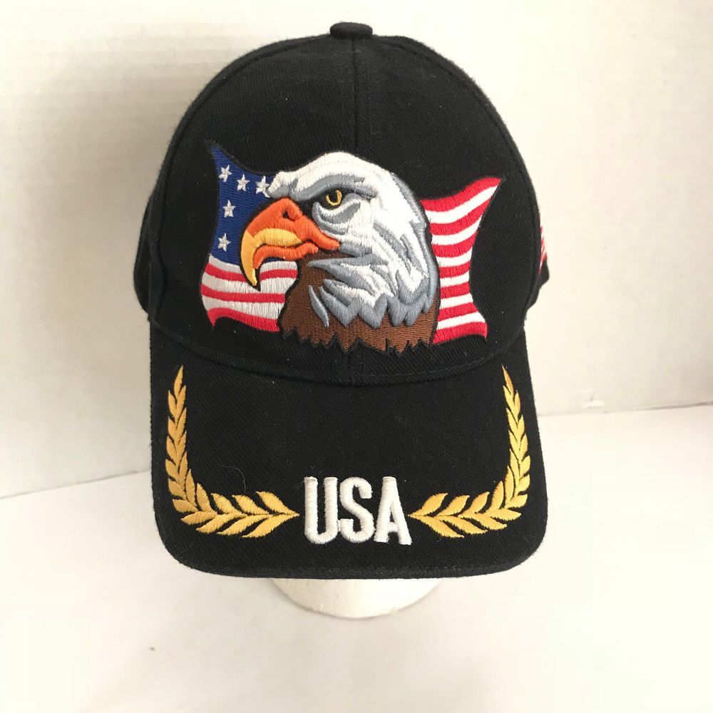 6327218a7525d1 USA American Flag Bald Eagle Embroidered Black Red Blue Adjustable Baseball  Cap | Clothing, Shoes & Accessories, Men's Accessories, Hats | eBay!