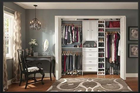Closet Organizers Ikea With Black Painted Chair