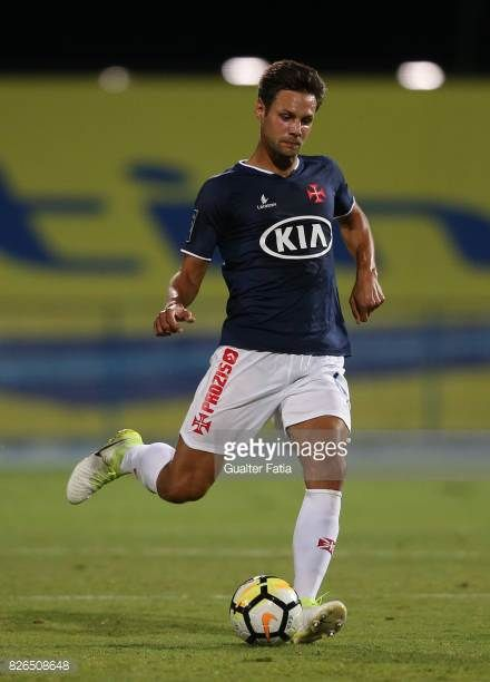 Os Belenenses Defender Vincent Sasso From France In Action During
