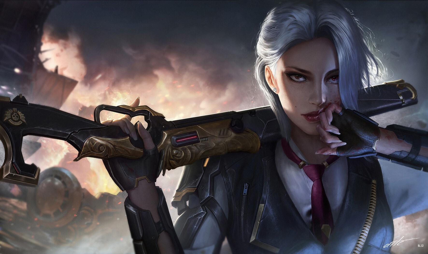 ArtStation Ashe, c w Overwatch, Overwatch fan art