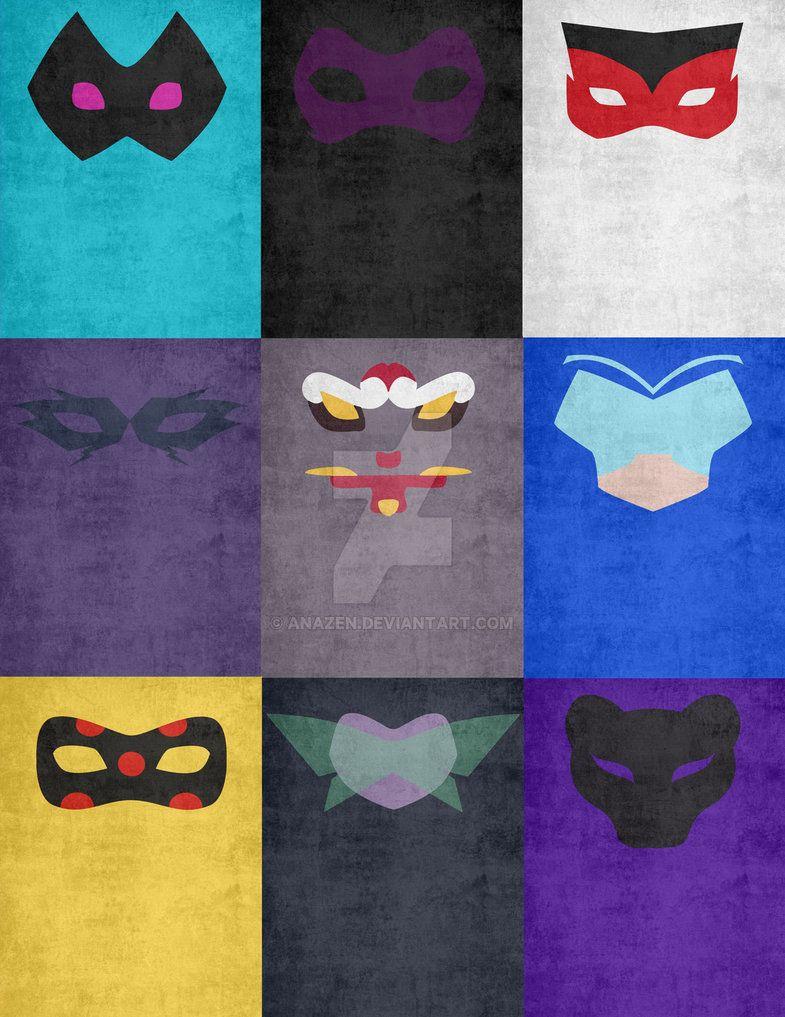 Akuma Masks Set 2 by Anazen on DeviantArt