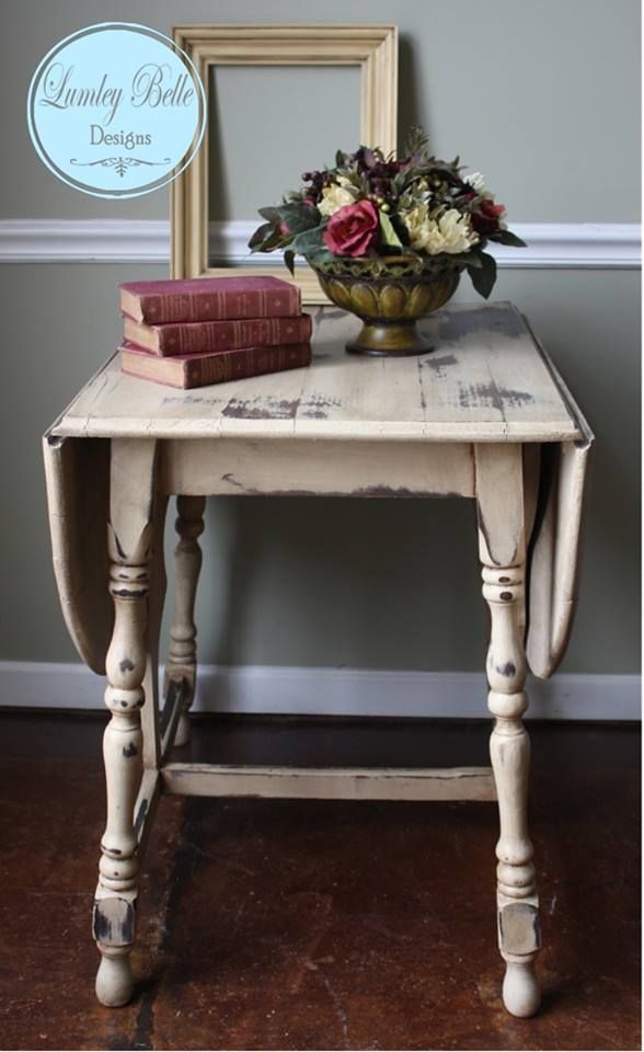Lumley Belle Designs Refinished Distressed Antique Drop