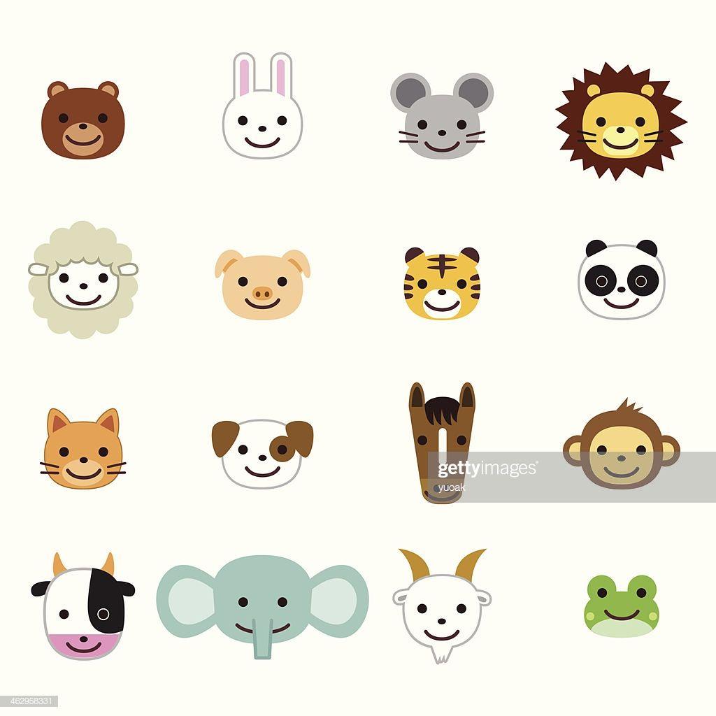Pets And Farm Animals Icons Animal Icon Animals Vector Art Illustration