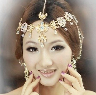 Bohemia style Wedding Bridal Jewelry crystal bead headpiece headband tassel floral belly dance headdress hair accessories jt019