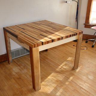 Diy Butcher Block Hardwood Table Manualidades En Madera Boho Interior Muebles