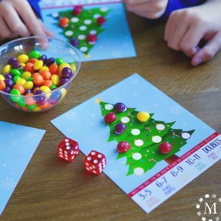 Roll-a-Tree Christmas Party Printable Game – MeckMom #christmasparty