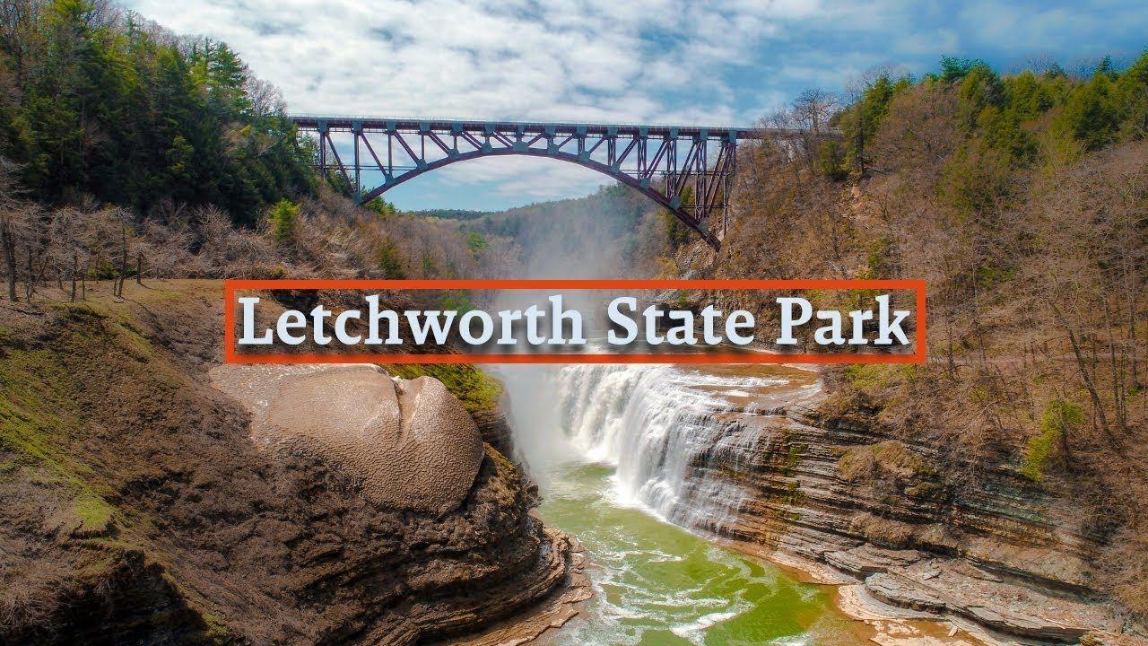 Letchworth state park new york drone video letchworth