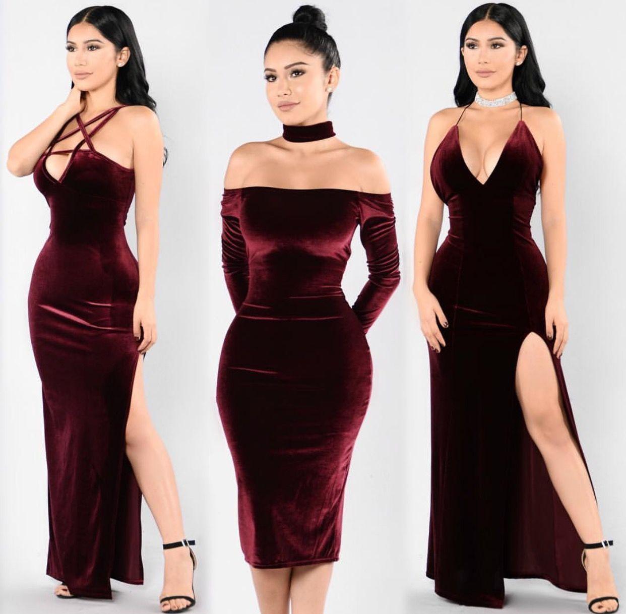 Fashion Nova Clothing Velvet dress long, Velvet dresses