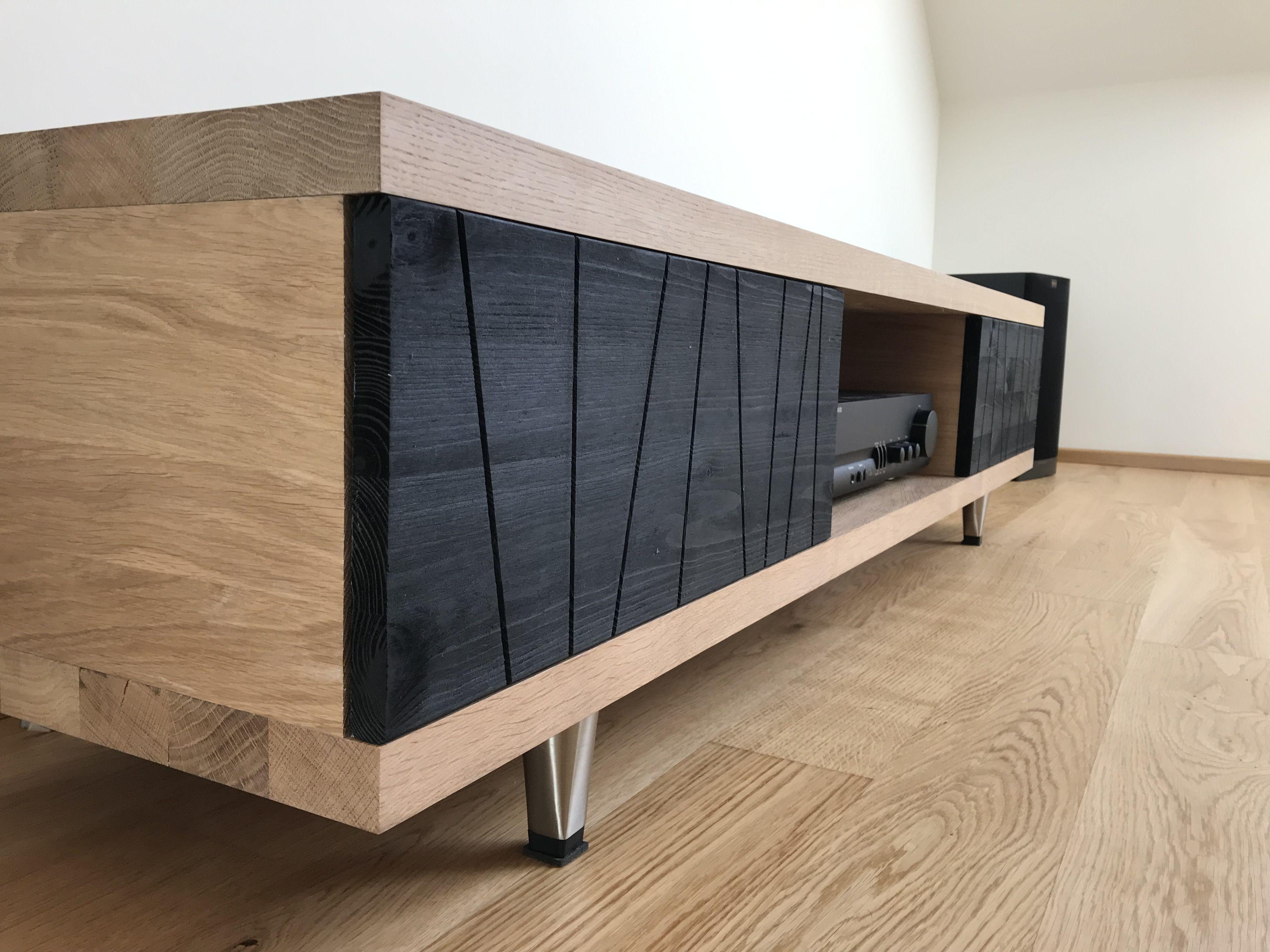 modernes lowboard | lowboard massivholz, diy möbel design