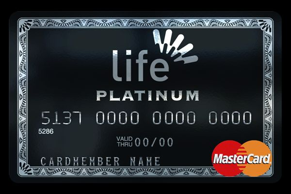 Platinum credit card with silver hot stamping logo Credit Card - membership cards design
