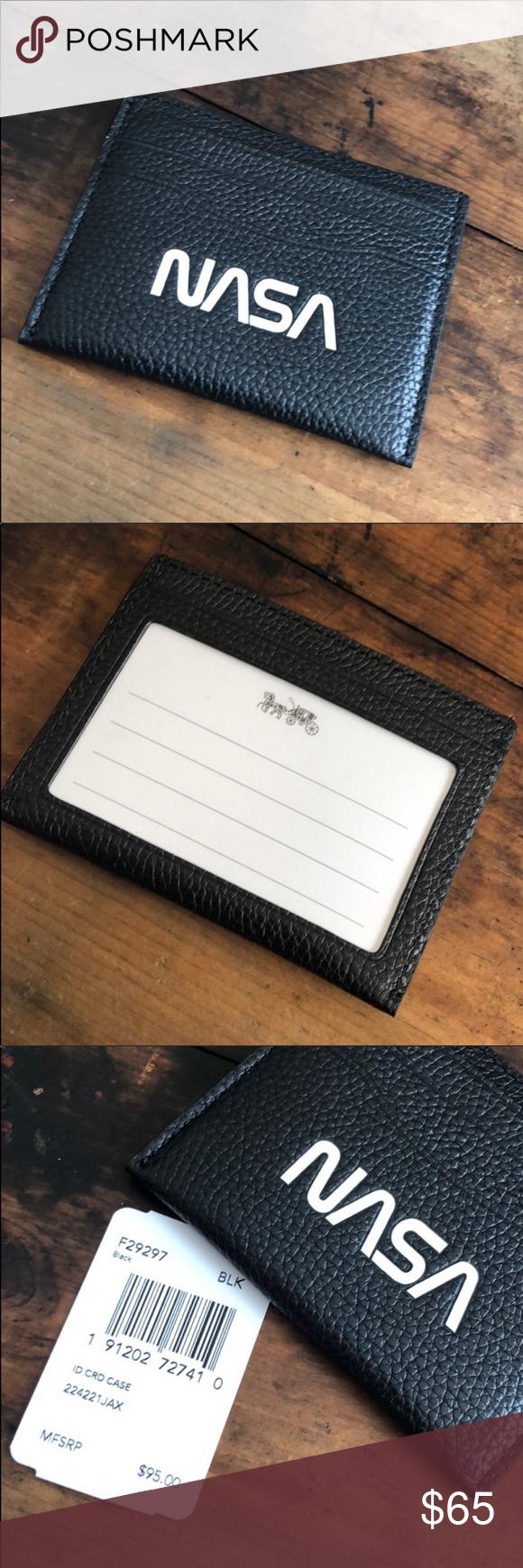 Coach Id Card Case Id Front Pocket Wallet Nasa Front Pocket Wallet Pocket Wallet Wallet