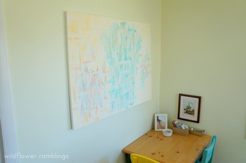 my journey into abstract painting - Wildflower Ramblings