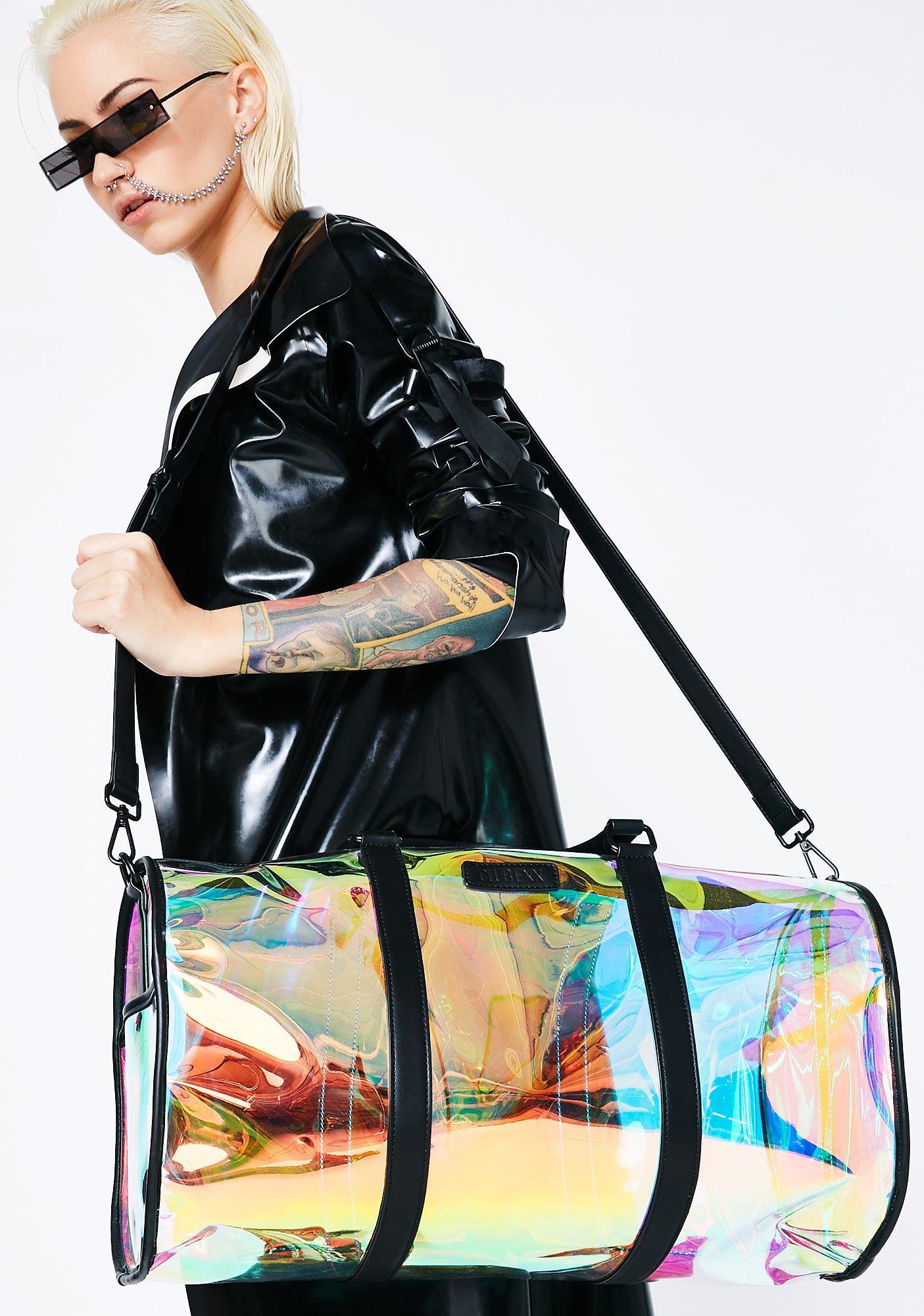 c7ea46f682 Club Exx Weirdo Weekender got ya spacin  out! This sikk af duffle bag has a  clear holographic body