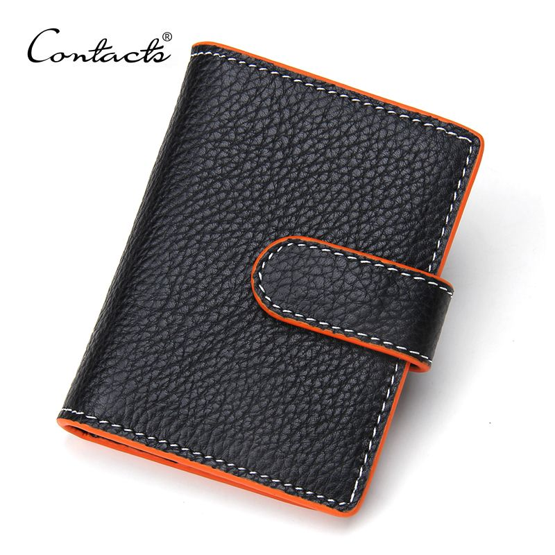 Contact S Genuine Leather Business Card Credit Holder Case Wallet Cover For Women Protector Las Men