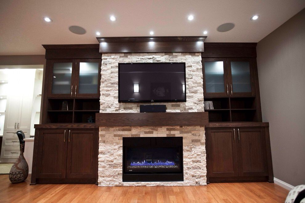 Electric Fireplace Ideas Bedroom Contemporary With Decorating
