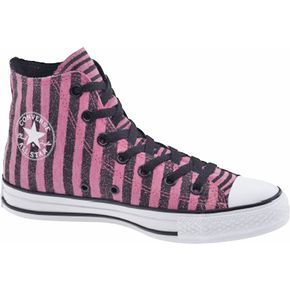 90aff0815ecff0 pink   black striped Converse