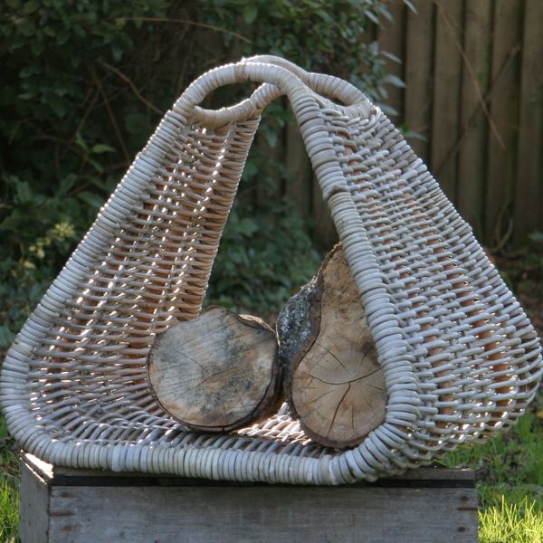 Nice Beautiful Grey Rattan Log Basket: Very Versatile And Great For Storing  Logs, Magazines Or The Kidu0027s Toys.