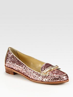 632d35515a83 Kate Spade New York Cora Glitter-Coated Patent Leather and Metallic Leather  Loafers