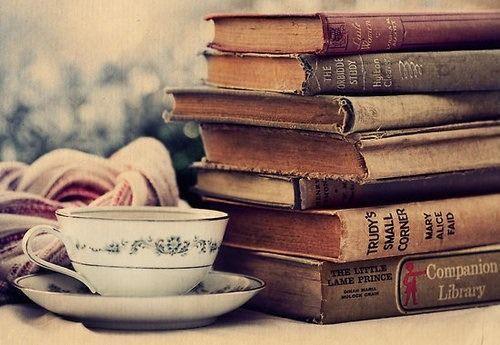 Resultado de imagen de vintage libro taza de cafe