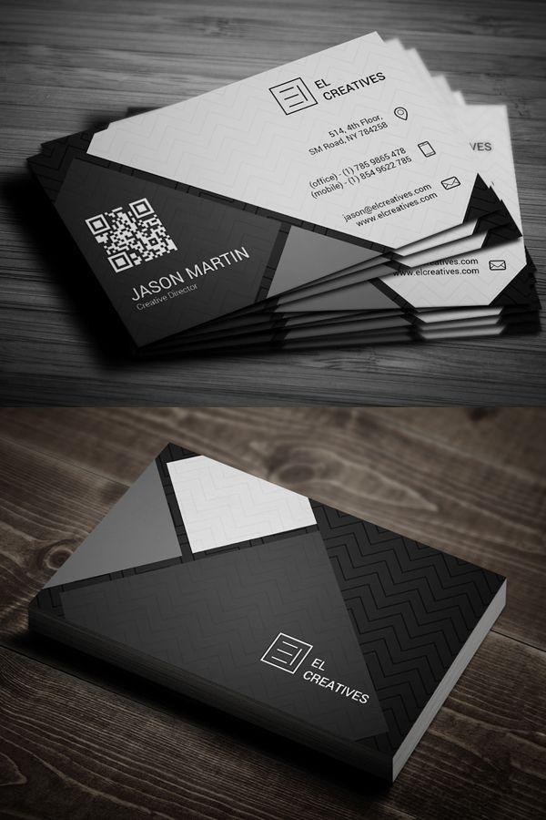 Dark Creative Business Card #businesscards #psdtemplate #printready ...