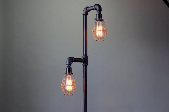 Pipe Floor Lamp Edison Bulb