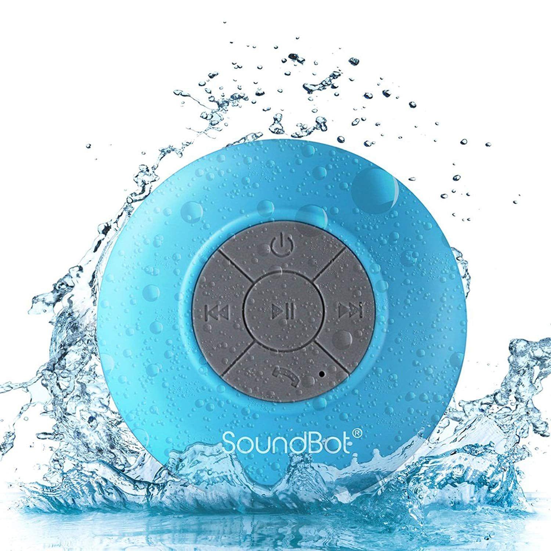 Soundbot Water Resistant Bluetooth Shower Speaker Shower Bluetooth Speaker Bluetooth Speakers Portable Waterproof Bluetooth Speaker