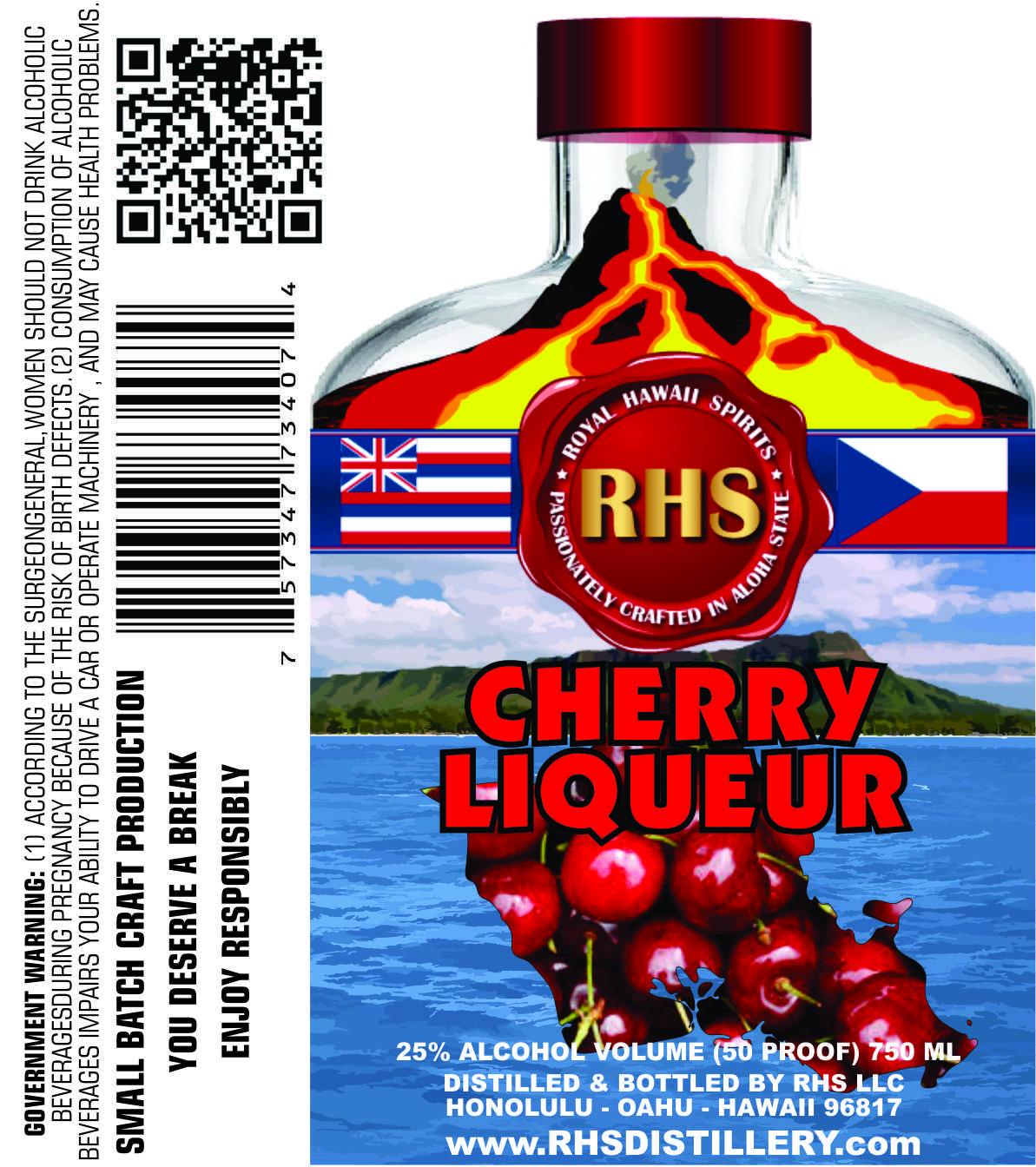 Cherry Liqueur By Rhs Distillery Oahu Island Cherry Liqueur Distillery Rhs