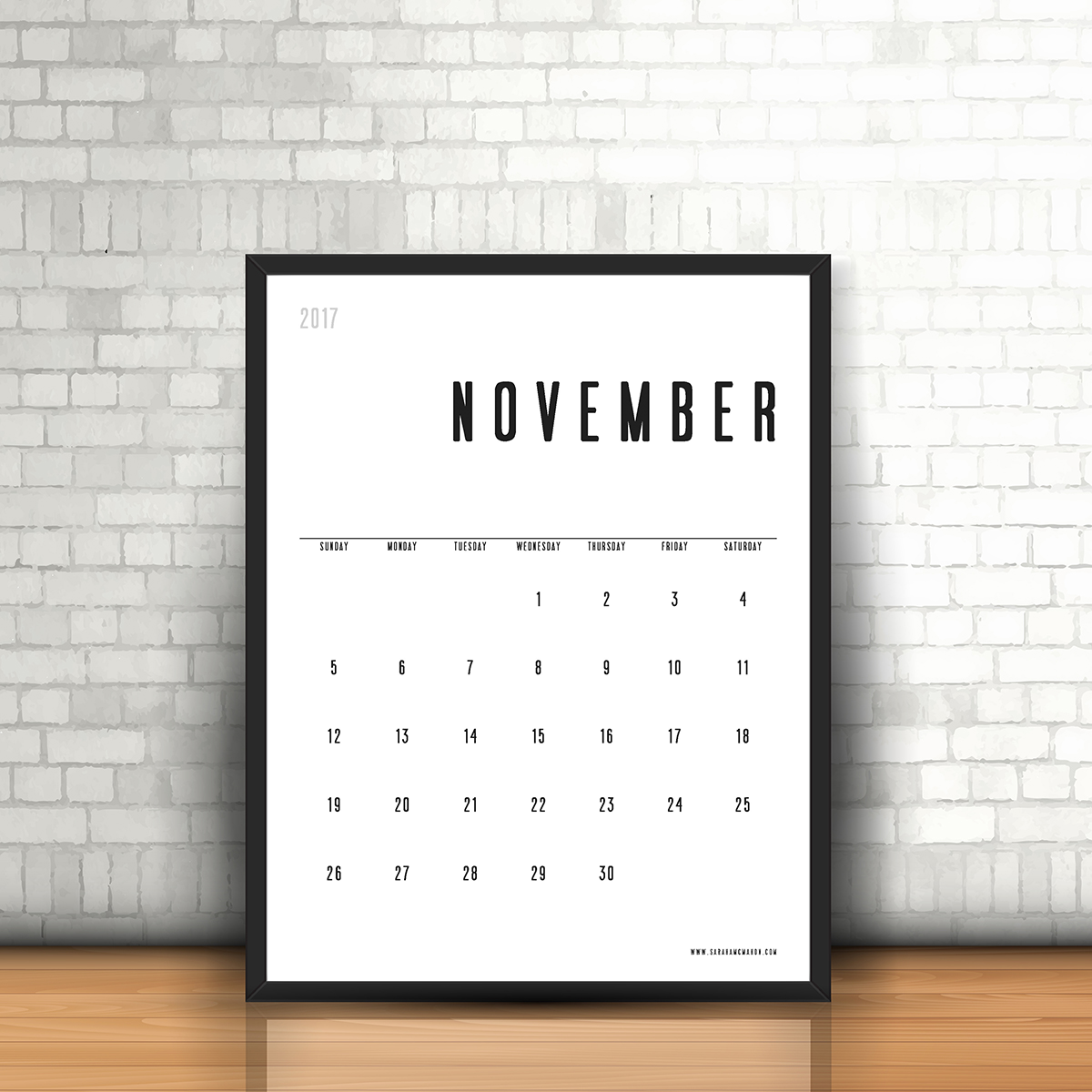 Calendar Typography Map : Free printable simple typographic calendar design all