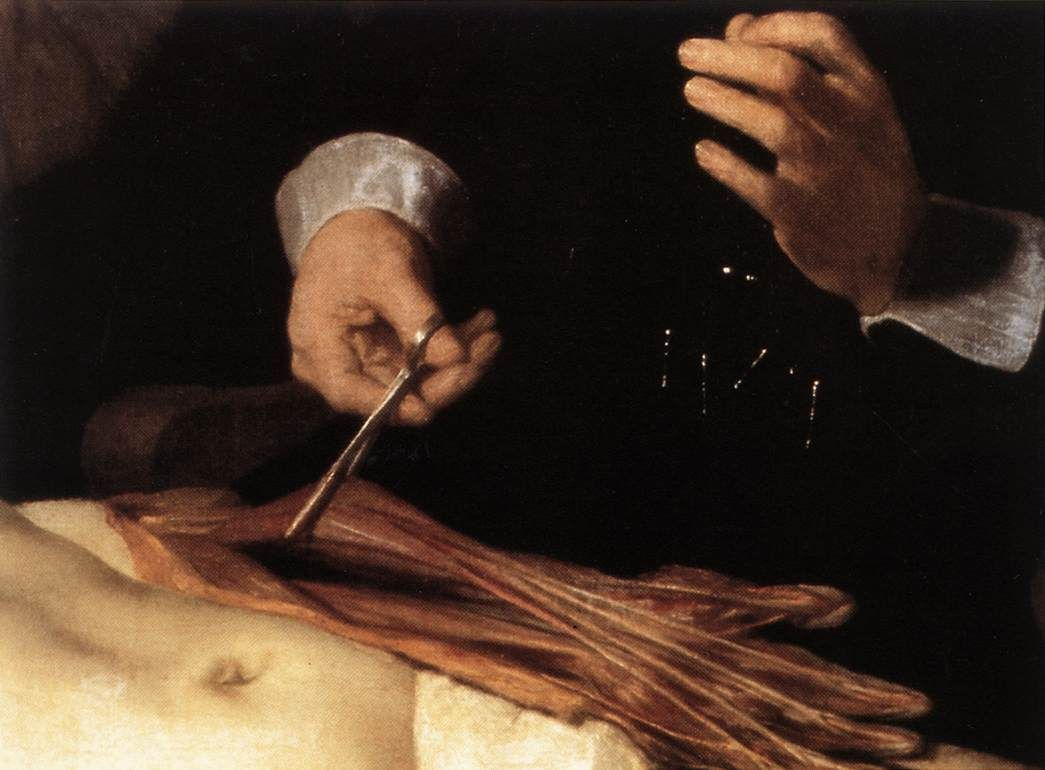 The Anatomy Lesson of Dr. Nicolaes Tulp(fragment) by @artrembrandt ...