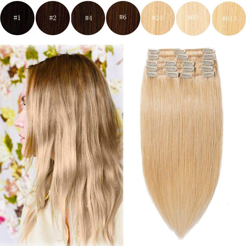 18long 100g 8pcs Fashion Clips In Remy Human Hair Extensions 8 Bigen Speedy 2 X 30gr Colors For Women Beauty