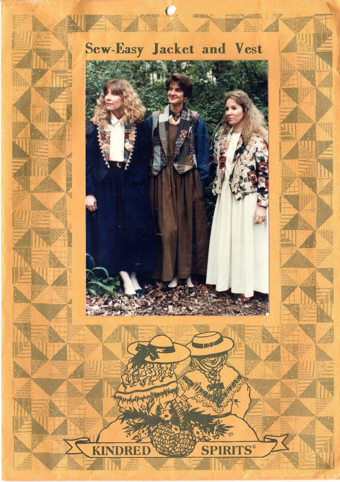 Kindred spirits sewing pattern sew easy jacket and vest in sizes kindred spirits sewing pattern sew easy jacket and vest in sizes s jeuxipadfo Images