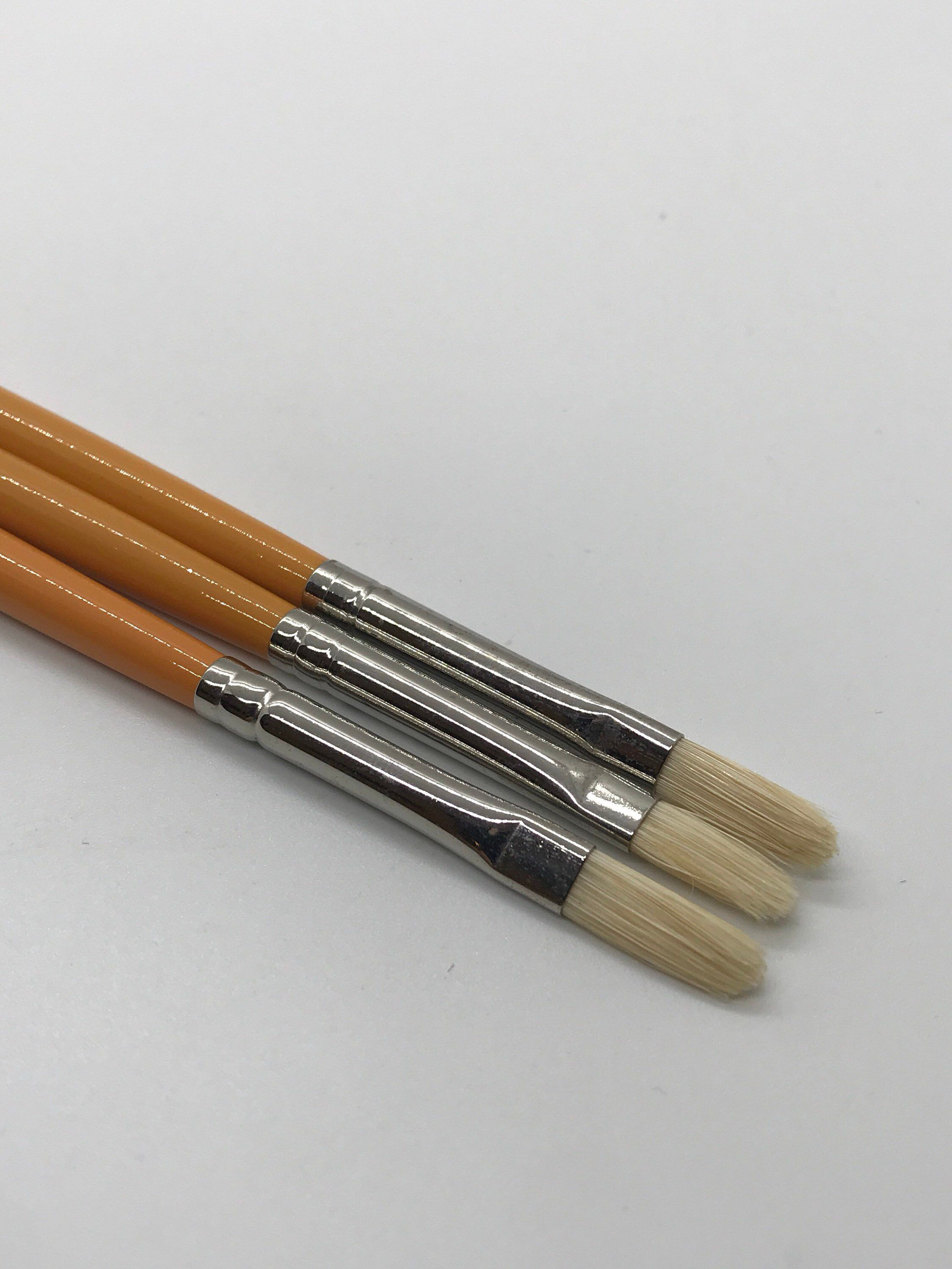 2 1 LOT OF 4 WINSOR /& NEWTON RED HANDLE WATERCOLOR BRUSHES ROUND #0 3
